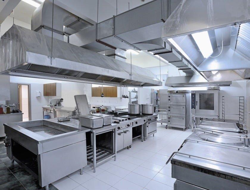 Commercial kitchen clean