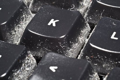 Keyboard - one of the dirty items in office