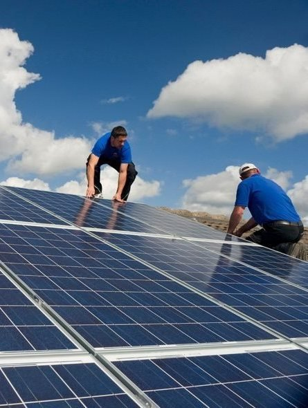 Solar panel cleaning using specialist equipment