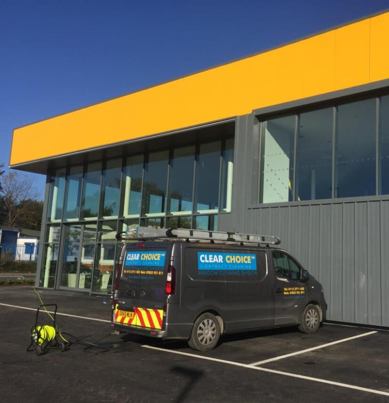 Commercial window cleaning in Leeds
