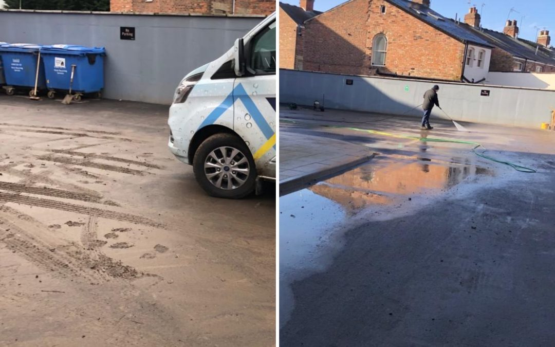Car Park Flood Clean – Before & After