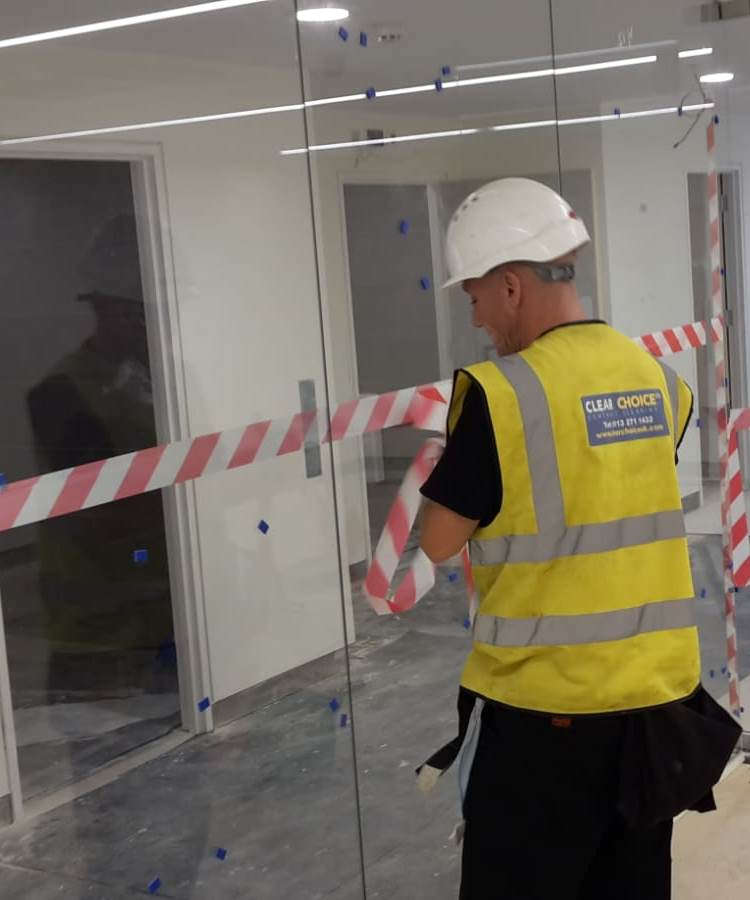 Safety is our top priority in construction site cleaning